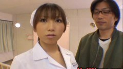 Shy asian nurse forced to strip by her patient