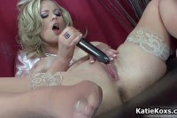 The sexy Katie toying her pussy