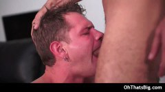 Meaty shaft dude pounding a tight gay ass