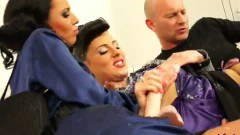Glamour babe fucked and jizz drenched