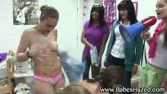 Hot chicks gets humiliated in sorority pledge