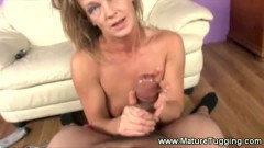 Tipsy older babe craves for a boys dick