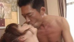 Sexy jap babe fingered hard before sucking on a big cock