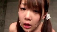 Roped asian babe gets a mouthful