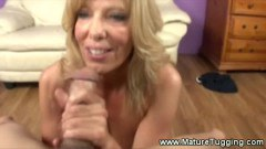 A hot granny gets hard dong in here