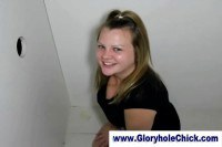 Chubby Nancy in gloryhole sucking!