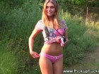 Blonde amateur flashing for a crippled