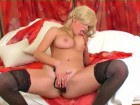 Blonde sexy beauty masturbating