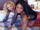 Enjoy two sexy babes pumped together by a lucky dude!