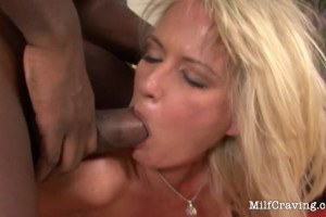 Blonde milf stops by her chocolate toy every day on her way home.