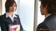 A japanese teacher willing to fuck a student