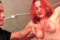 Amazing redhead punished by her master