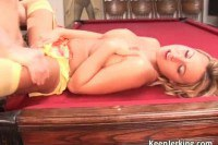 Super hot blonde gets a naugthy creampie from this craving stud