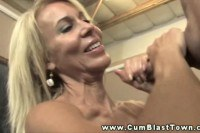 A mature teacher wanking in detention