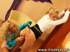 Two lavish babes going for some steamy BDSM action
