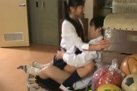 Japanese slut riding a hard cock