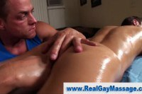 Masseur taking care of a butt hole
