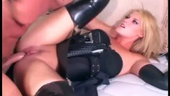 A sexy police officer gets some