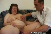 Granny getting dildoed and pumped