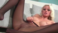 Tempestuous blonde with prefect tits teasing you