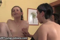 Old and young lesbians sharing the same toys