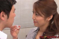 Hottest japanese teacher Kokomi Sakura fucked so hard