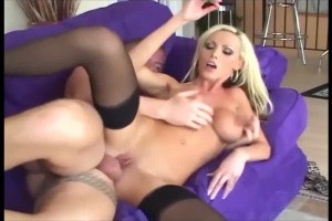 Busty blonde bitch in deep throat and hard fuck