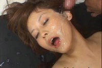 Sexy japanese doll Hime Kamiya gets her face jizzed