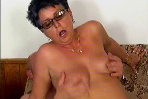 Old whore pumped by some dude