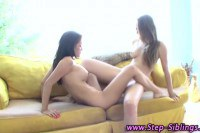 Sexy step sisters help eachother