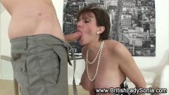 Mature Sonia pumped by younger cock