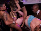 Horny CFNM babes fucked at a club orgy