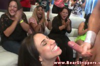 Wild babes suck cock on a party