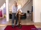 Sexy blonde chick does old timer