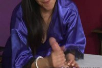 Magnificent Latina masseuse giving head to her client