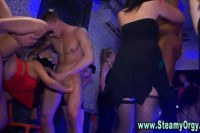 Horny CFNM babes fucked at a party by strippers