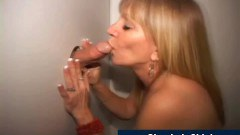Real mature slut feeding on a stranger cock