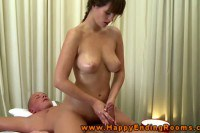 Stuning busty masseuse in action