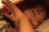 Cute oriental model teased while sleeping