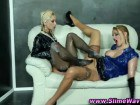Sexy blonde babes in slime action