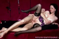 Classy European prostitute gets a lovely facial after some hard pounding