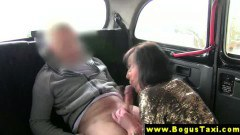 Hot euro amateur sucking and bouncing on a cab driver's dick