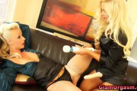 Wild blonde babes toying