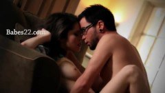 Hot brunette Tiffany making love with her man