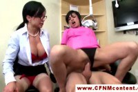 CFNM doctor and nurse spoiling a big hard dick