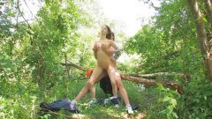 Young amateur fucking in the forest