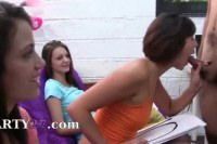 Naughty college babes have sex in dorm