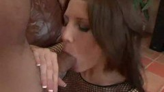 Superb brunette Jenni Lee sucking dick like a pro
