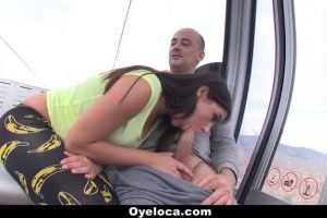 Stunning Valentina Nappi gives head in public