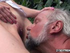 Nasty mature couple pissing and fucking